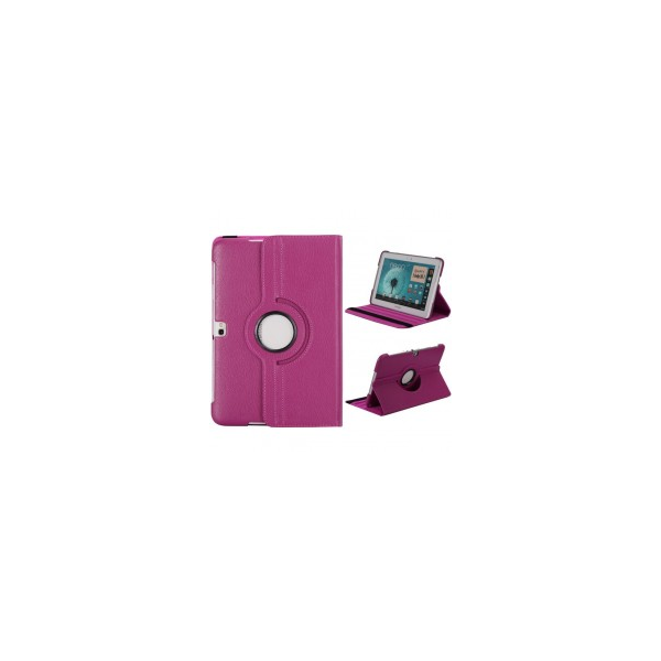 Capa Galaxy Note 10.1 Stand Rotatorio 360 - Rosa